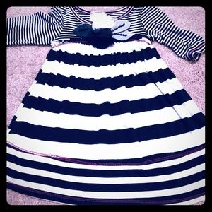 Pink Vanilla striped LS flowy dress 2T